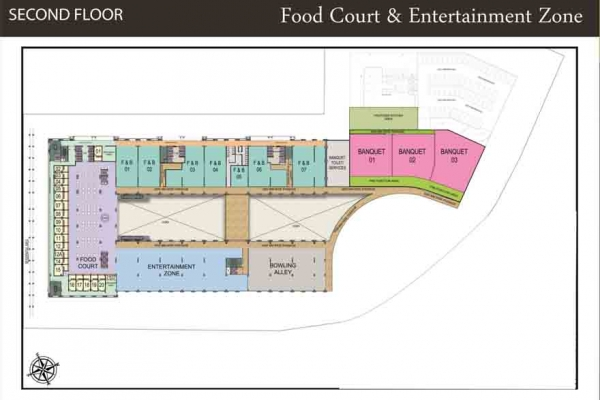 MMR 52nd Avenue Food Court Second Floor Plan
